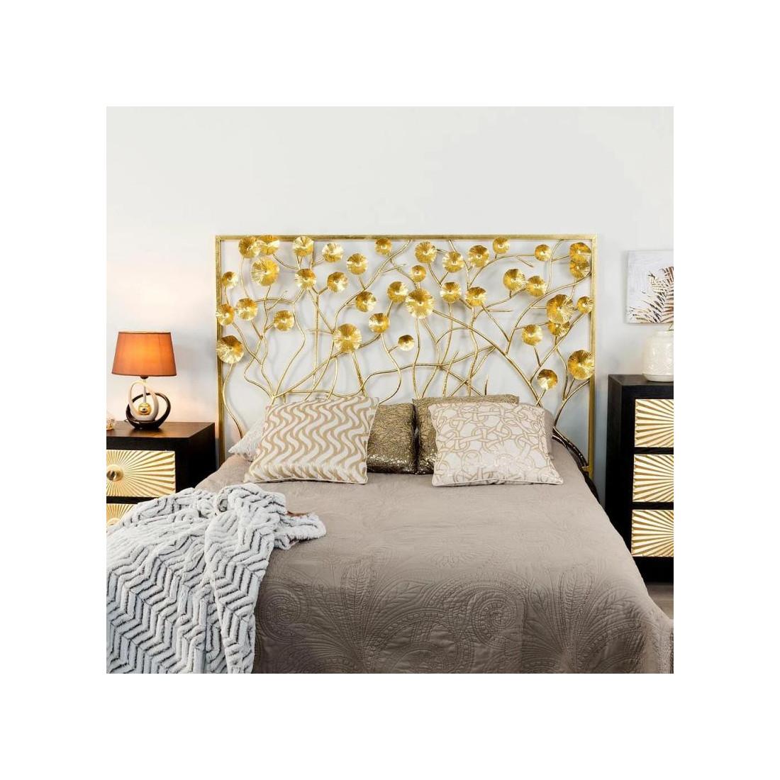 t te de lit 160 cm m tal or goldy univers de la chambre. Black Bedroom Furniture Sets. Home Design Ideas