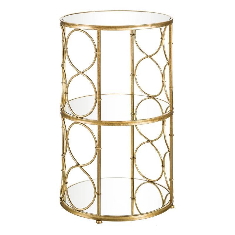 Table d'appoint Verre miroirs Métal Or - Univers Petits Meubles et Salon : Tousmesmeubles