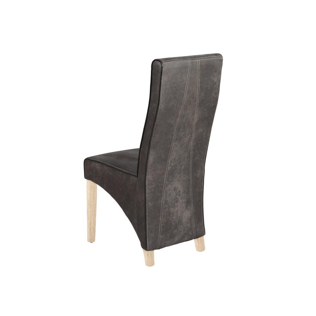duo chaise grise bali univers de la salle manger tousmesmeubles. Black Bedroom Furniture Sets. Home Design Ideas