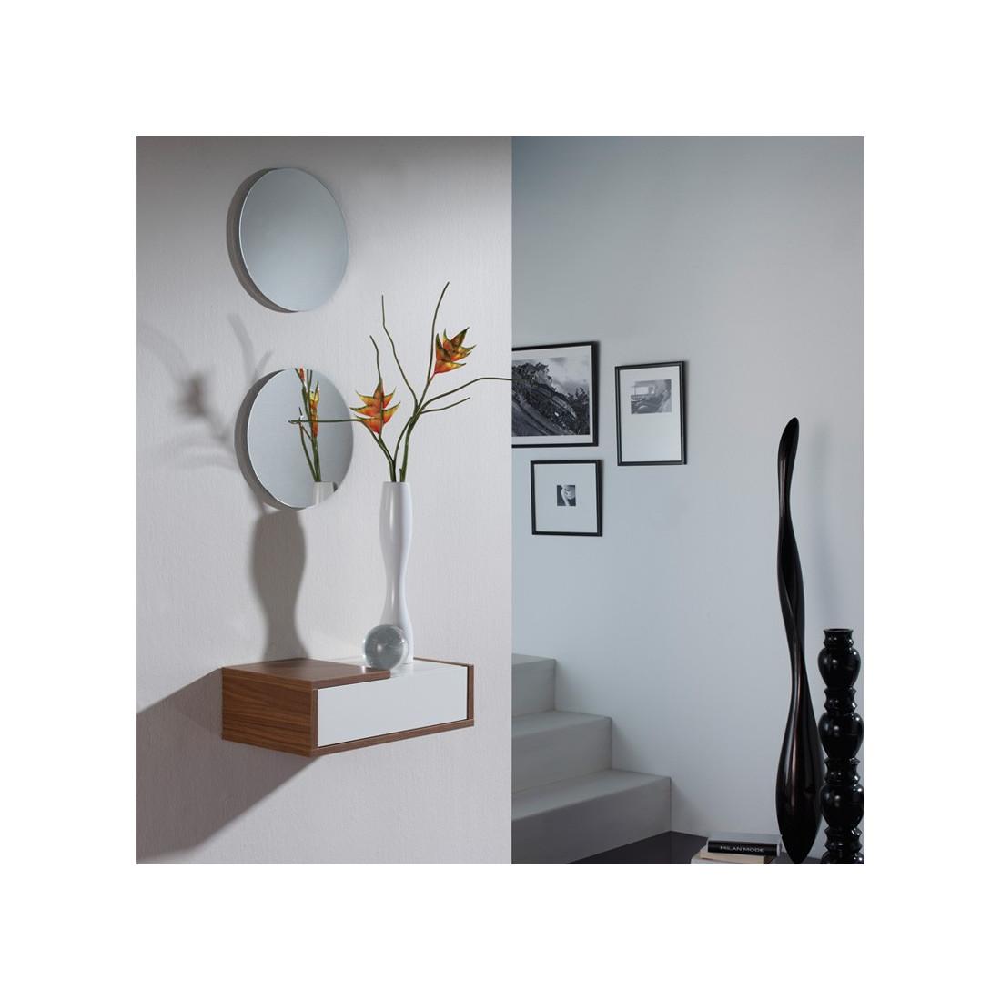 meuble d 39 entr e noyer miroir scopa univers petits meubles. Black Bedroom Furniture Sets. Home Design Ideas