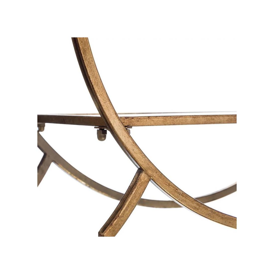 desserte sur roulettes verre miroirs m tal or goldy desserte. Black Bedroom Furniture Sets. Home Design Ideas