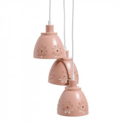 Suspension 3 ampoules Métal rose clair - GONDO