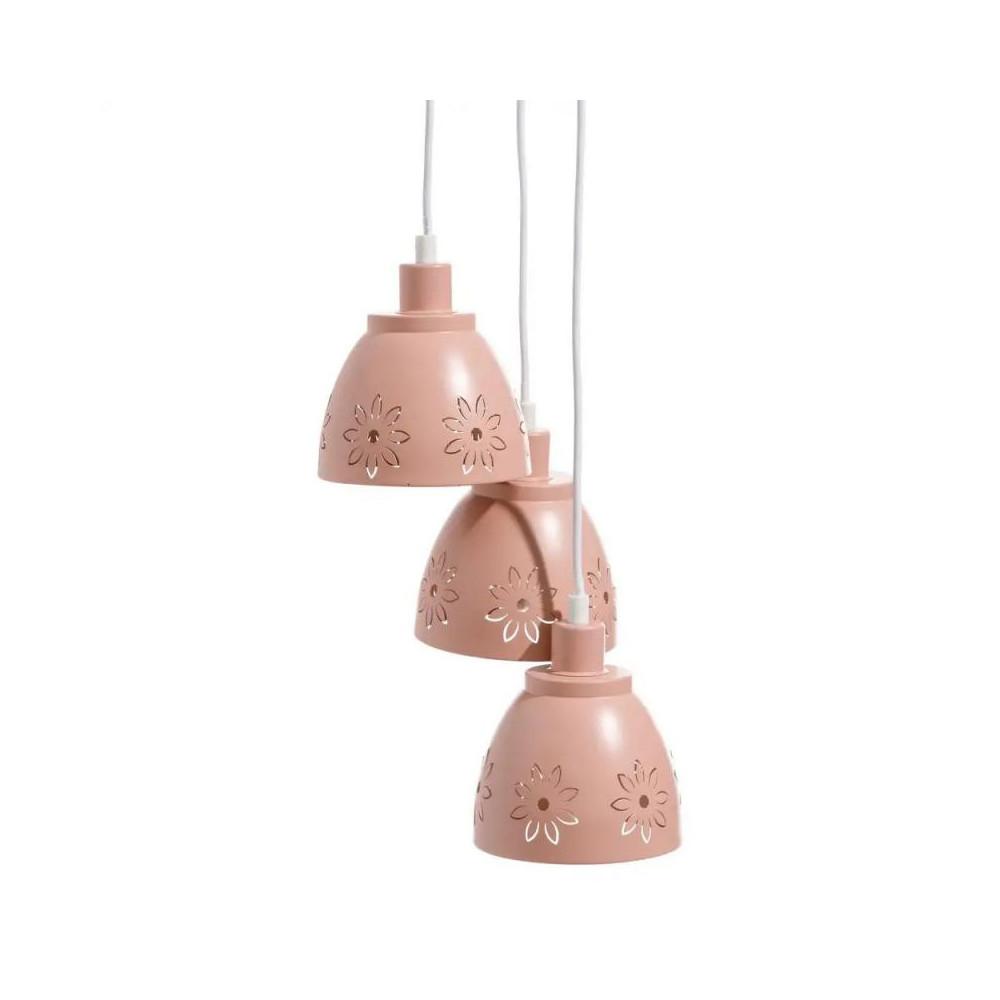 Suspension 3 ampoules Métal rose clair - GONDO