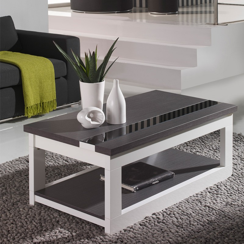table basse relevable upti univres salon tousmesmeubles. Black Bedroom Furniture Sets. Home Design Ideas