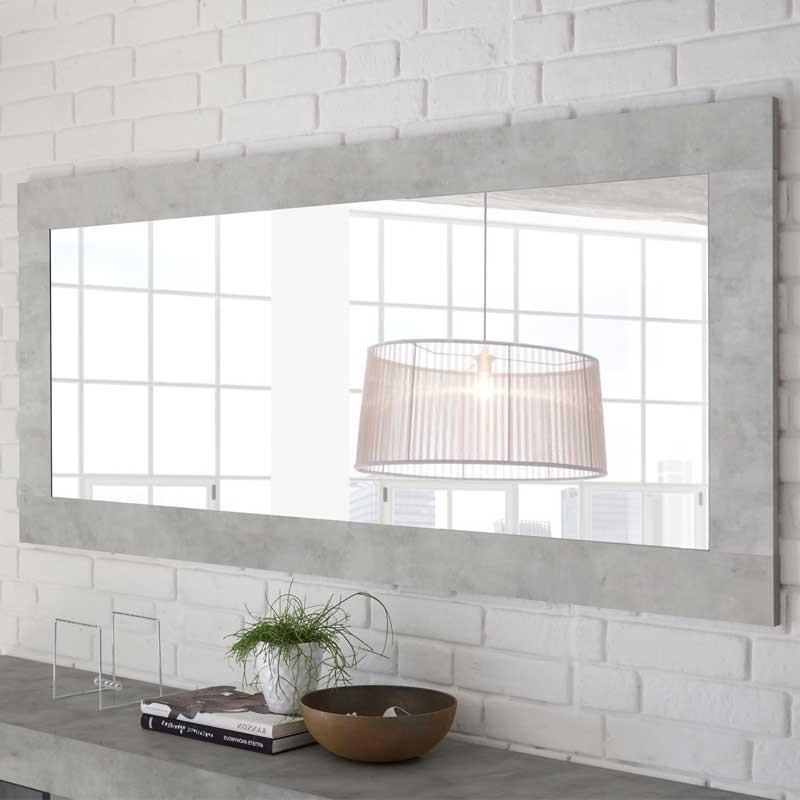 Miroir rectangulaire Béton ciré clair - LUBIO