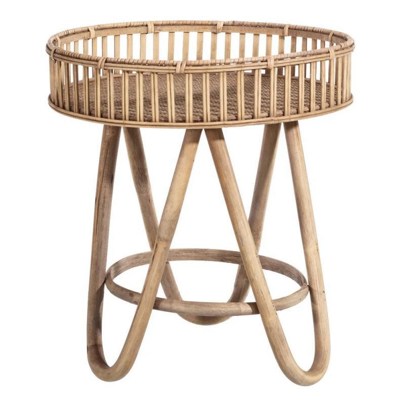 Table d'appoint Bambou naturel TANAR - Univers Salon et Petits Meubles : Tousmesmeubles