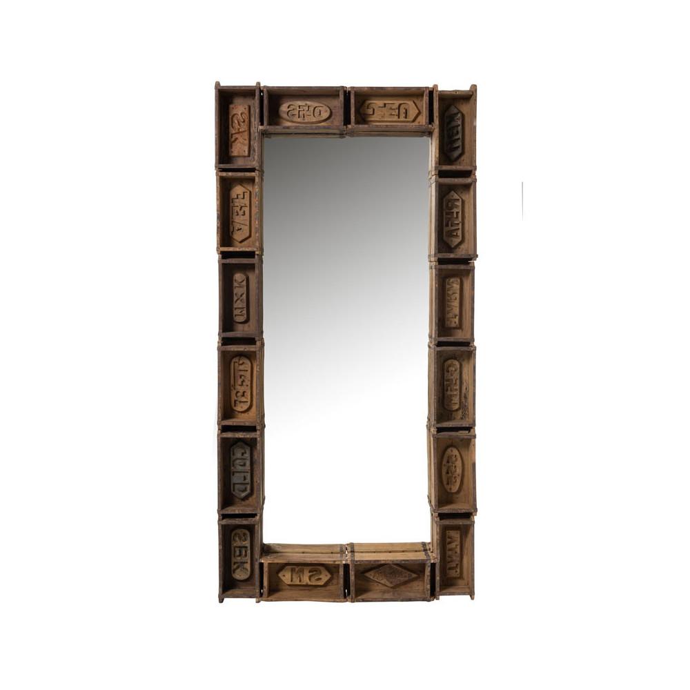 Miroir rectangulaire Bois recyclé - BOUTY