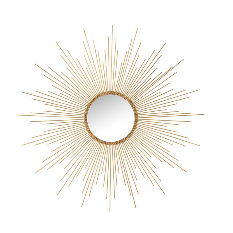 Miroir soleil Rond Métal doré N°1 - POSAVINA