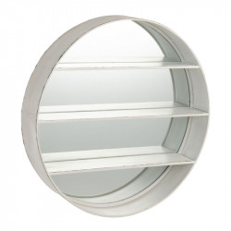 Miroir rond Bois blanc - SUNICHO