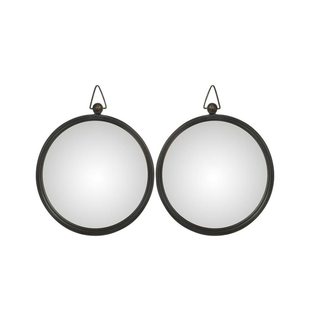Duo de Miroirs Métal noir taille S - TOLFETANO