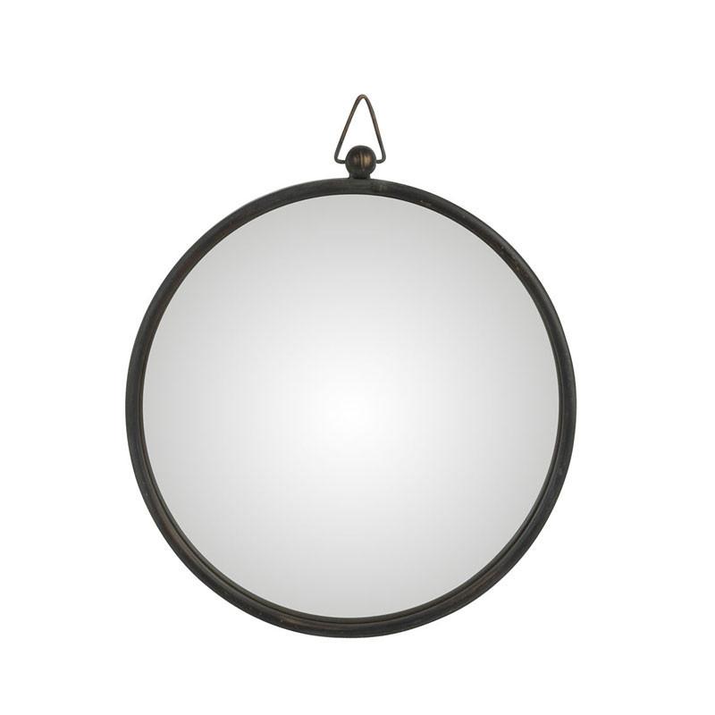 Miroir Métal noir taille M - TOLFETANO