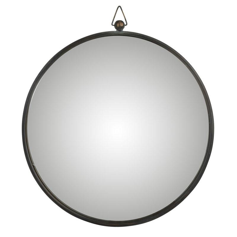 Miroir Métal noir taille L - TOLFETANO