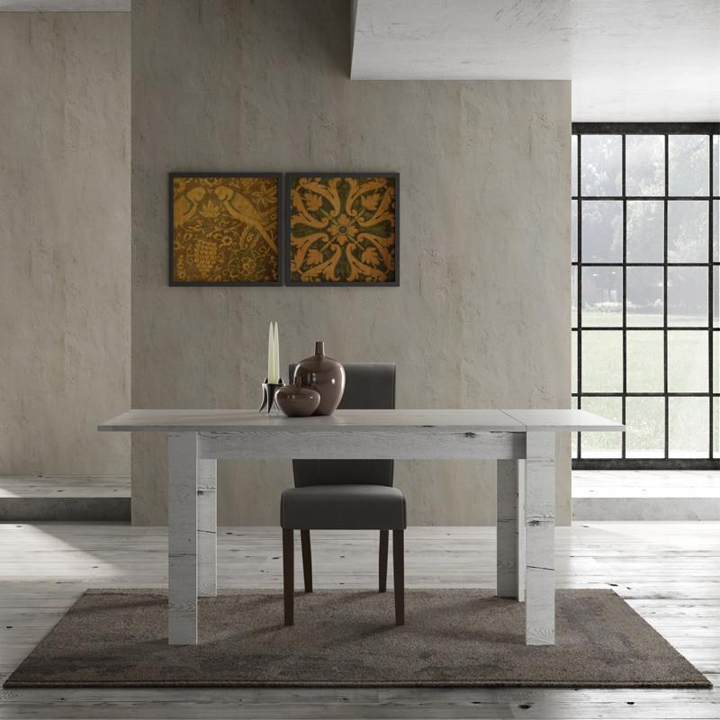 Table de repas à allonge Chêne blanchi - PALERME