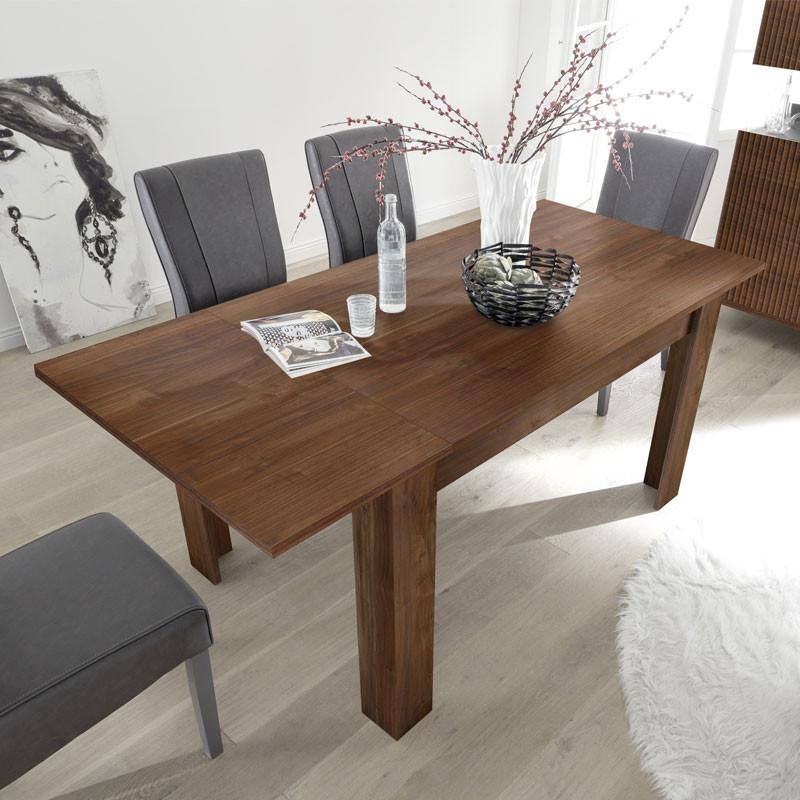 Table de repas rectangulaire à allonge Noyer foncé - ROME