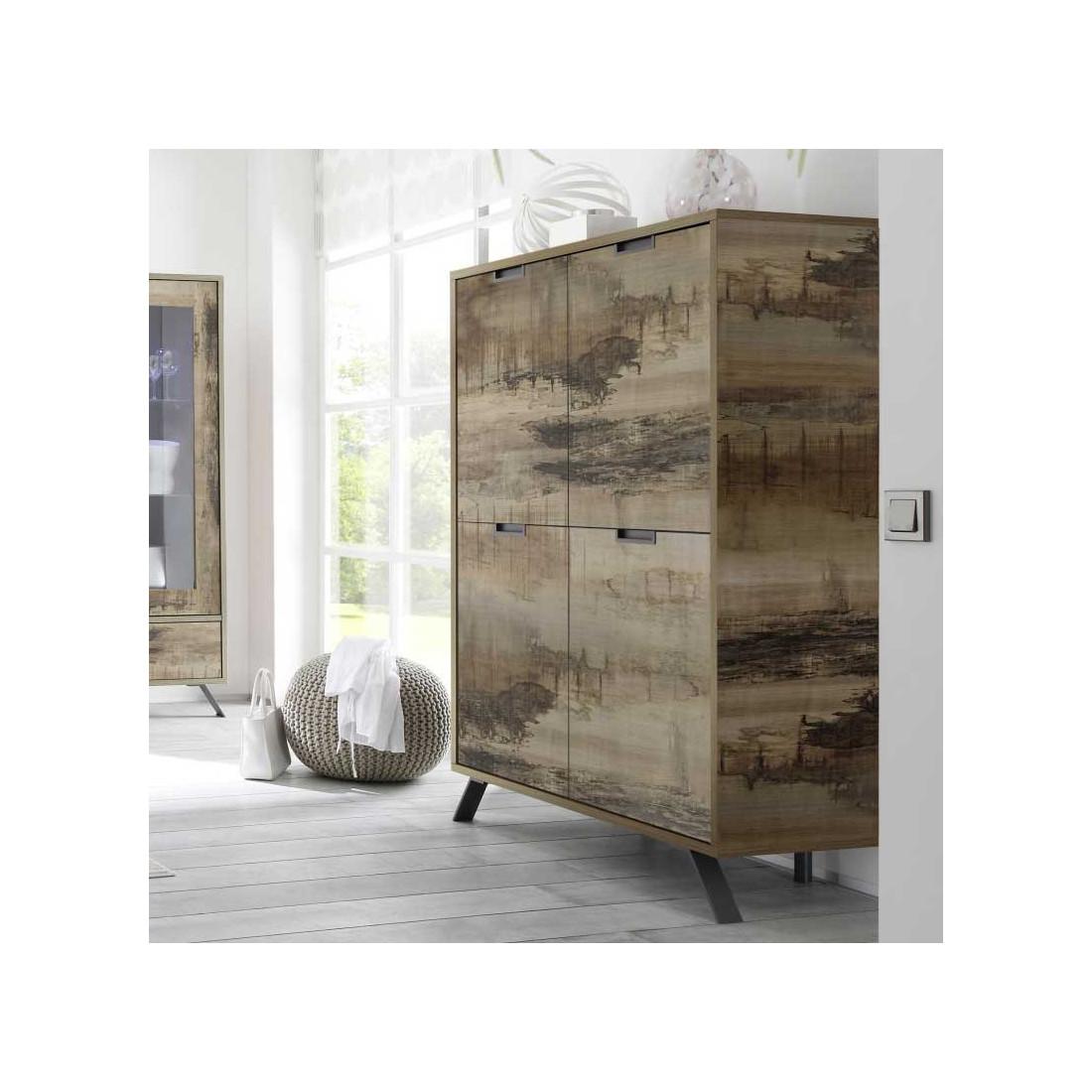 vaisselier armoire salon planches bois palerme univers. Black Bedroom Furniture Sets. Home Design Ideas