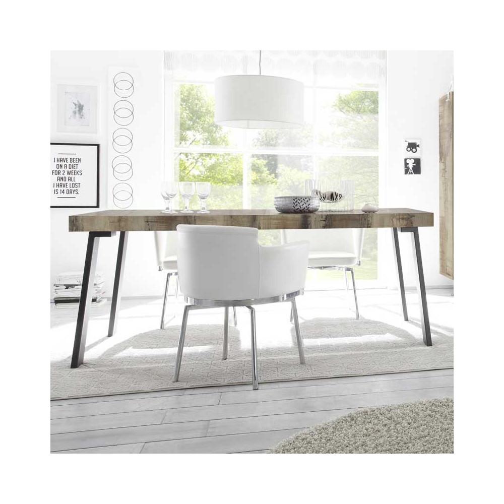 Table de repas Planches bois/Métal - PALERME