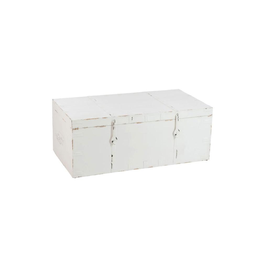Coffre de rangement Bois blanc/Fer forgé - FACTORY