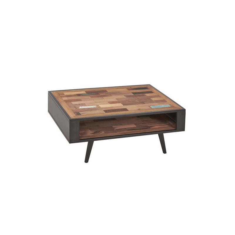 Table basse en bois double plateau - MANHATTAN