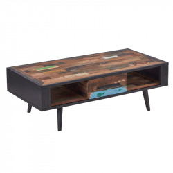 Table basse en bois 1 tiroir - MANHATTAN