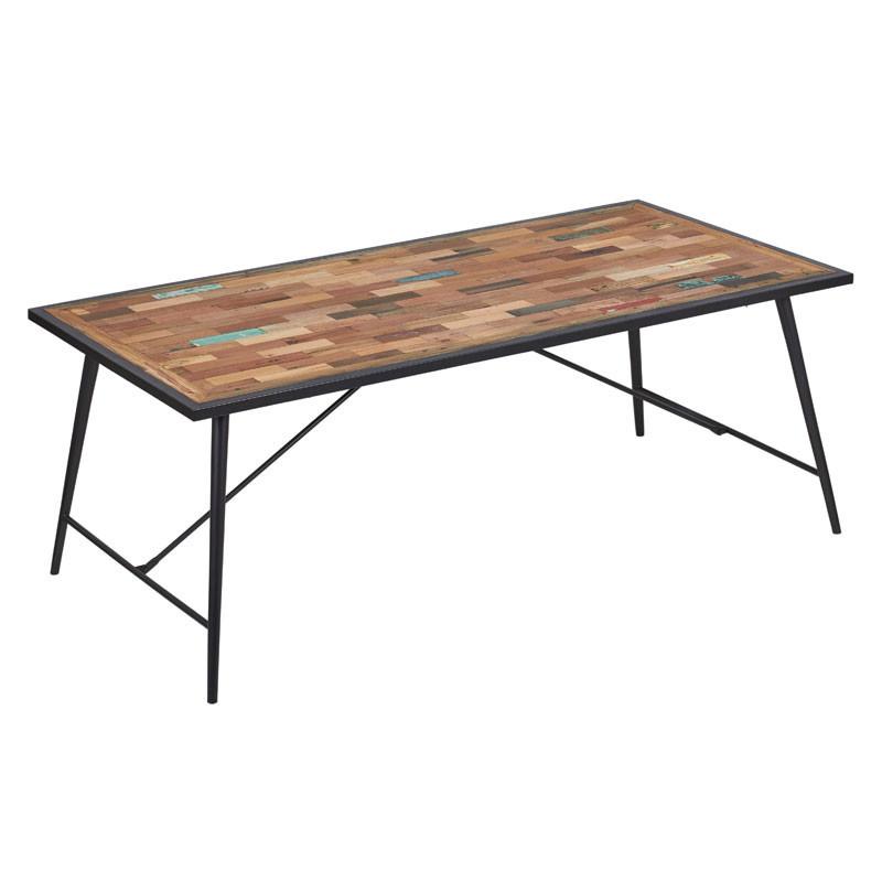 Table à manger bois et fer - MANHATTAN