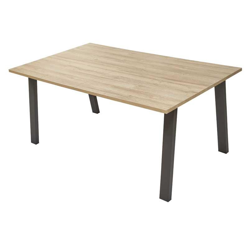 Table de repas à allonge Chêne naturel - WATERLOO n°1