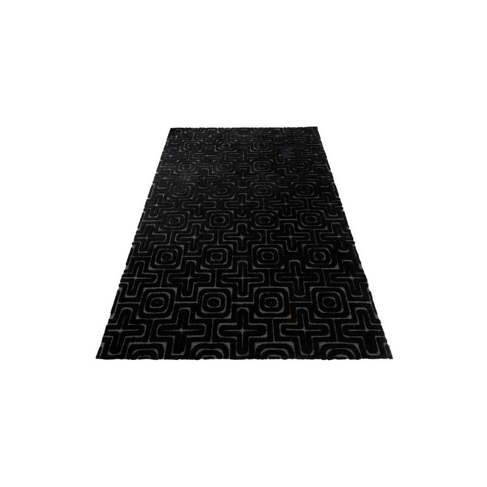 Tapis géométrique Tissu noir 300*200 - SERPENTINA