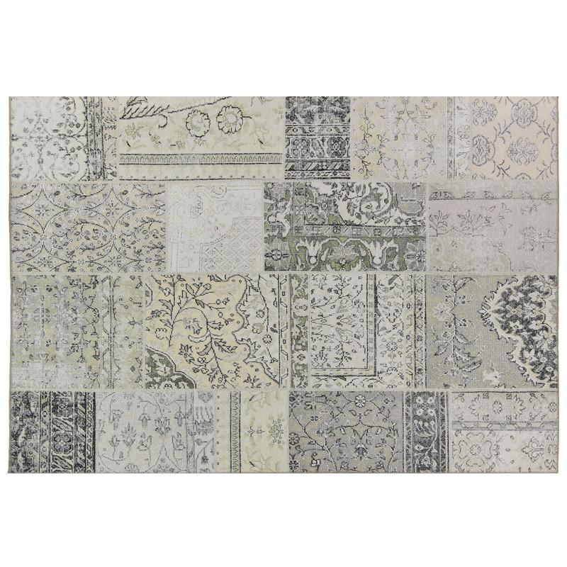 Tapis Patchwork Tissu beige160*230 - BENADIR