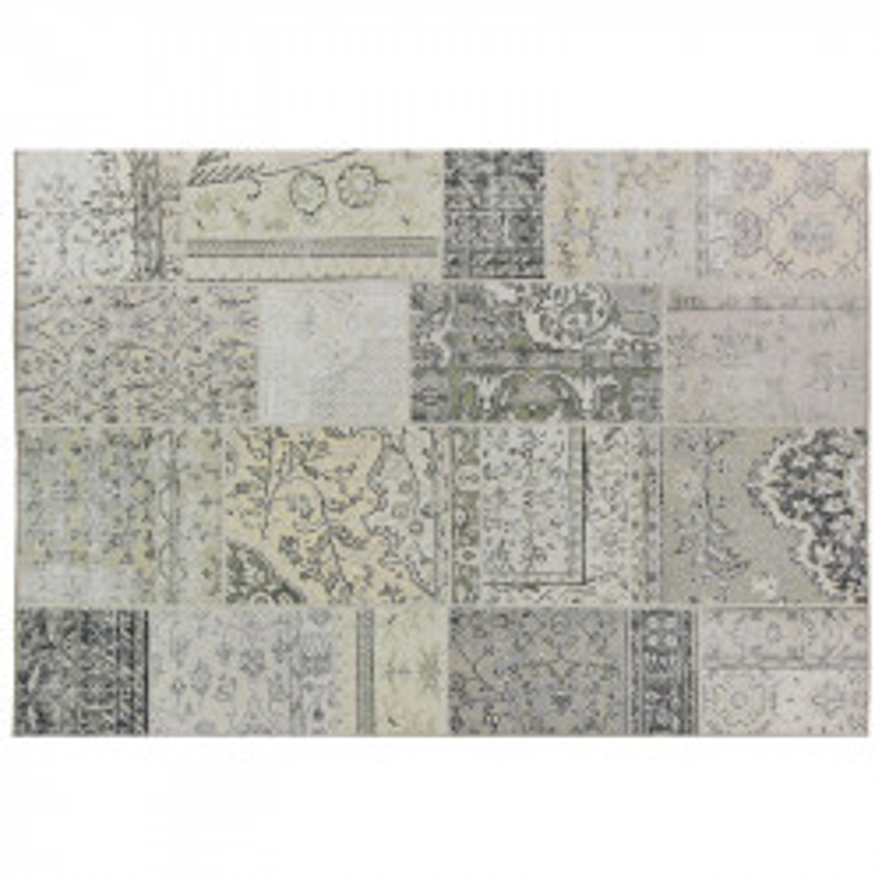 Tapis Patchwork Tissu beige 190*290 - BENADIR