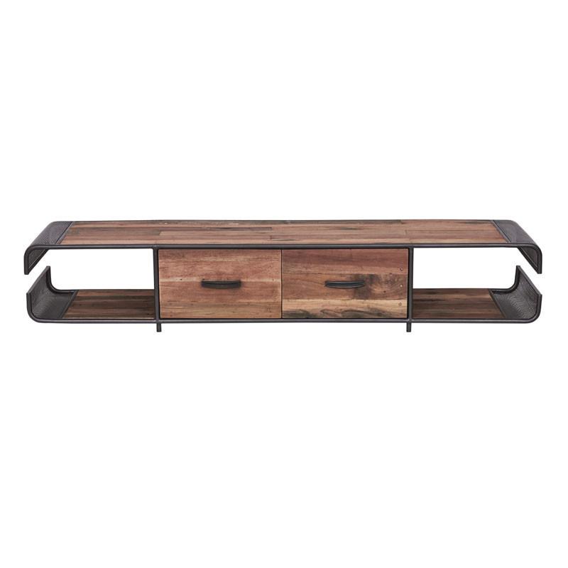 Meuble TV en bois 2 tiroirs - SEATTLE