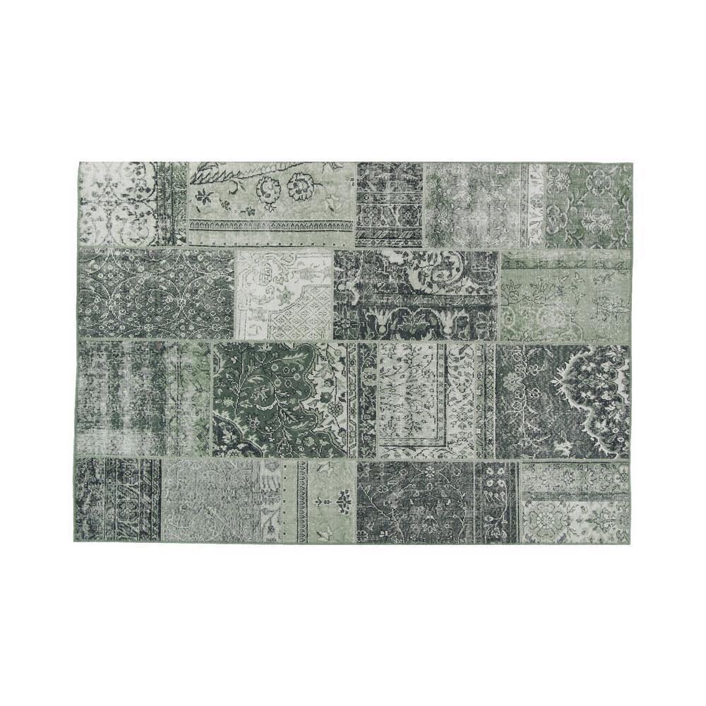 Tapis Patchwork Tissu vert 160*230 - BENADIR