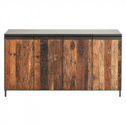 Buffet Fer/Bois 4 portes - HOUSTON