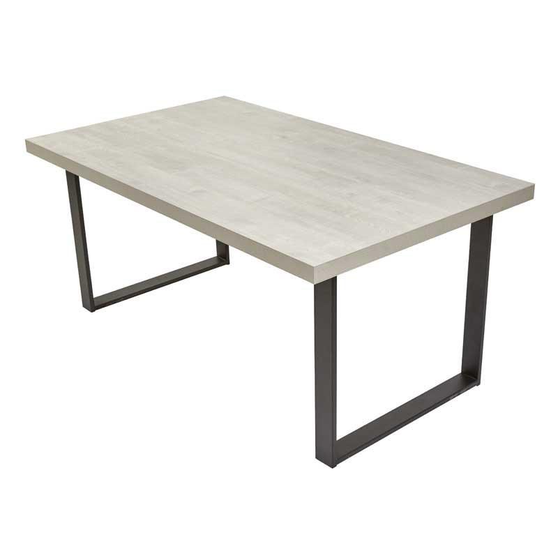 Table de repas rectangulaire Craie - WATERLOO n°3