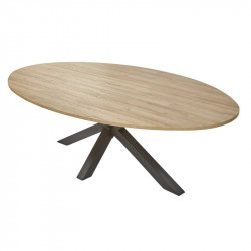 Table de repas ovale Chêne naturel - WATERLOO n°2