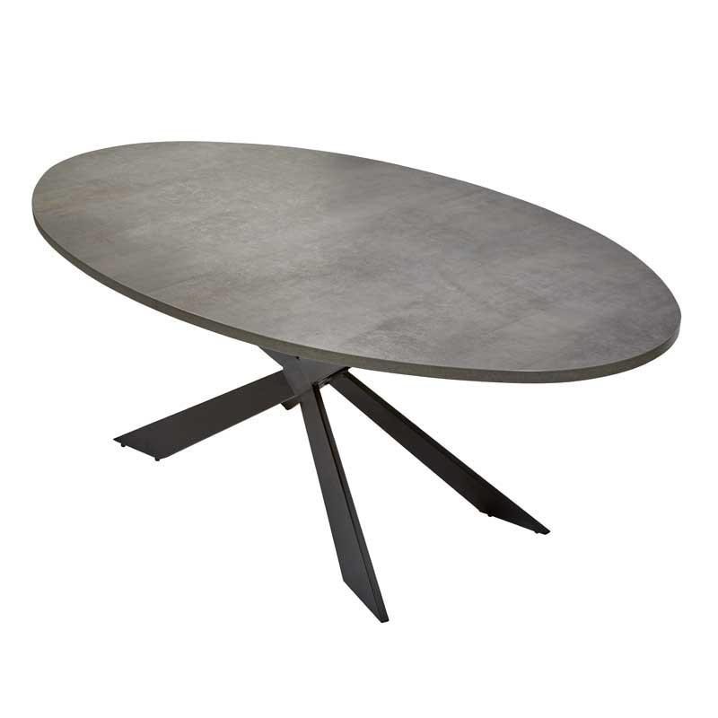 Table de repas ovale Béton - WATERLOO n°1