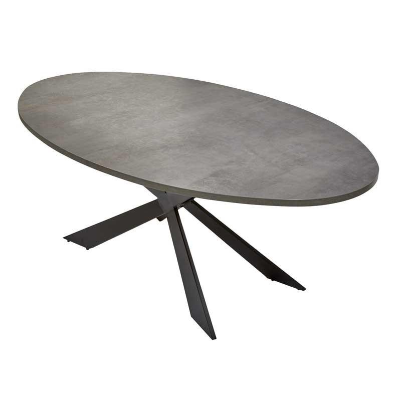 Table de repas ovale Béton - WATERLOO n°2