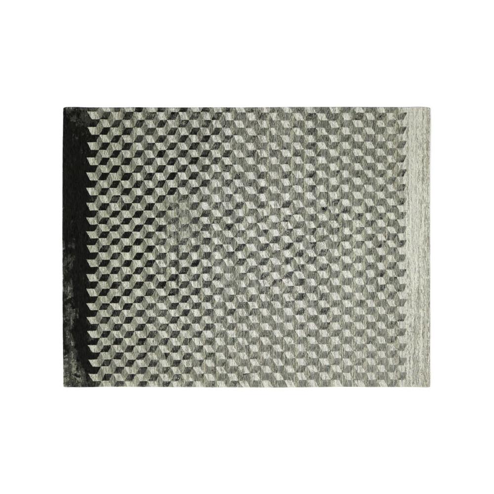 Tapis géométrique Tissu gris 170*230 N°1 - ALGARVIA