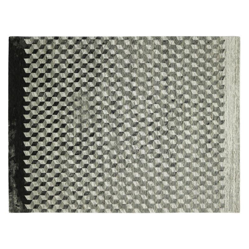Tapis géométrique Tissu gris 240*340 N°1 - ALGARVIA