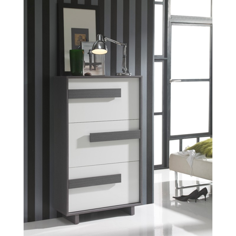 meuble chaussures blanc cendre storia univers petits meubles. Black Bedroom Furniture Sets. Home Design Ideas