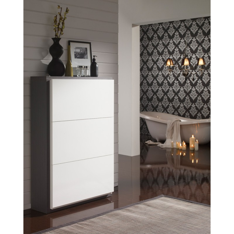 meuble chaussures blanc cendre n 2 basica univers. Black Bedroom Furniture Sets. Home Design Ideas