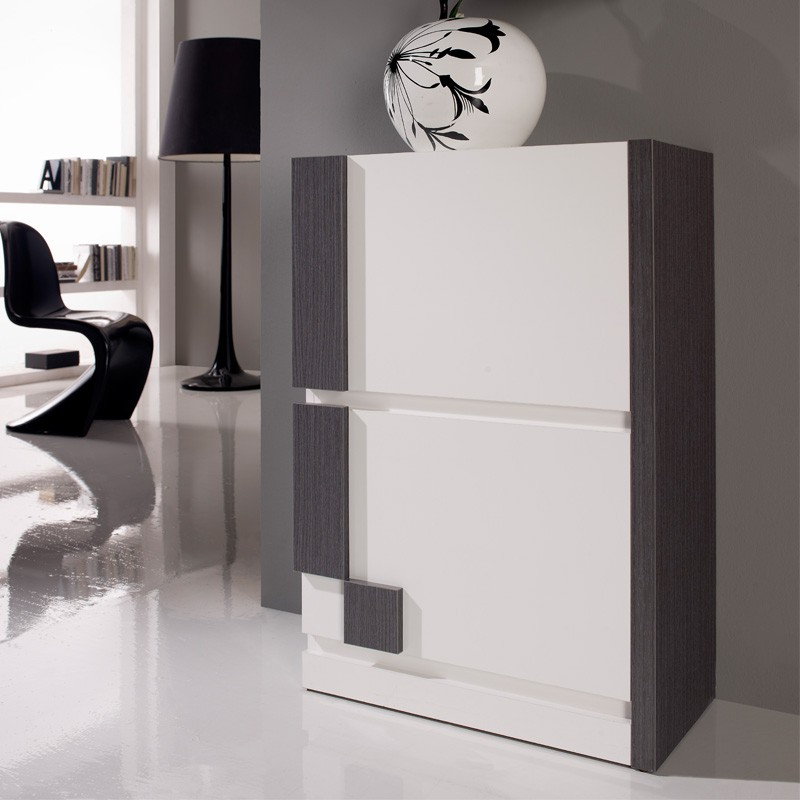 meuble chaussures blanc cendre louba univers petits. Black Bedroom Furniture Sets. Home Design Ideas