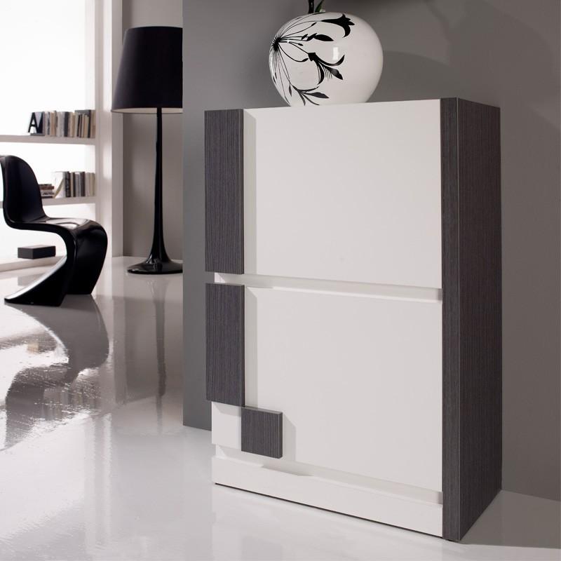 Prix des meuble chaussures 16 for Meuble a chaussures mural 2 abattants goccia blanc laque
