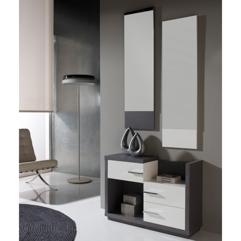 meuble d 39 entr e cendre miroirs colby univers petits. Black Bedroom Furniture Sets. Home Design Ideas