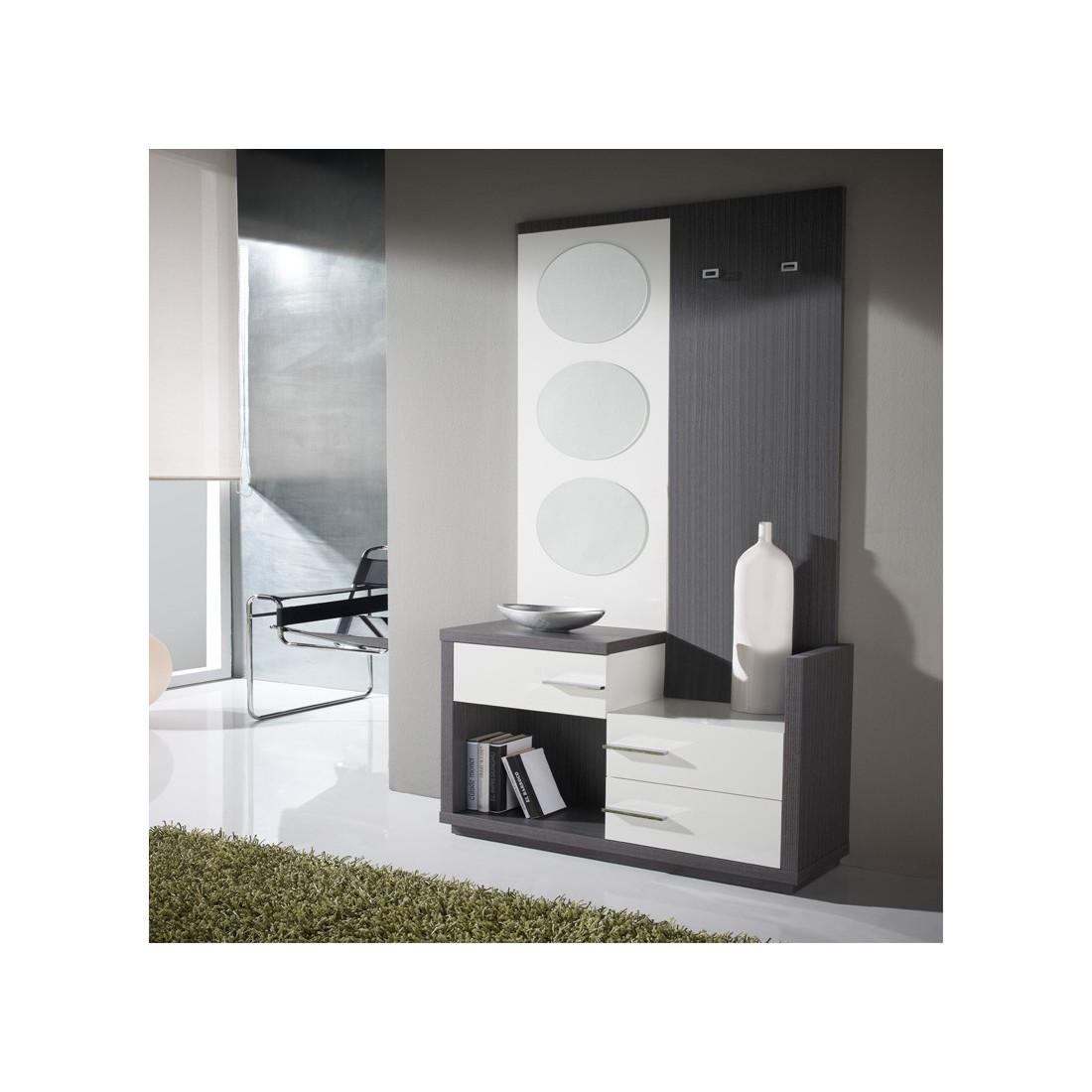 Meuble d 39 entr e miroirs carmen univers petits meubles for Miroir design pour entree