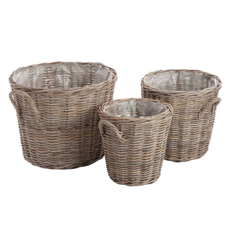 Trio de Paniers Rotin naturel - SIDAOUN