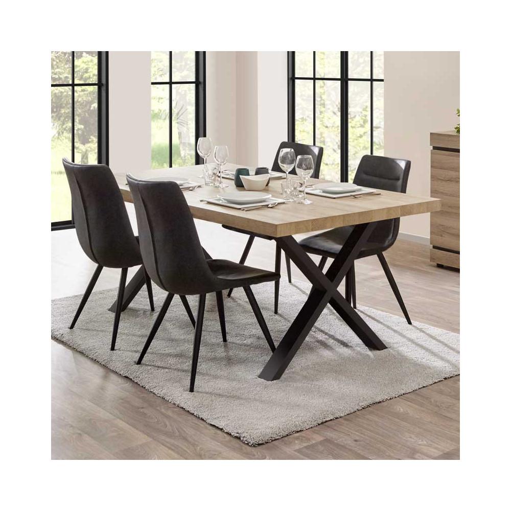 Table de repas 160 cm Chêne naturel - COURTRAI