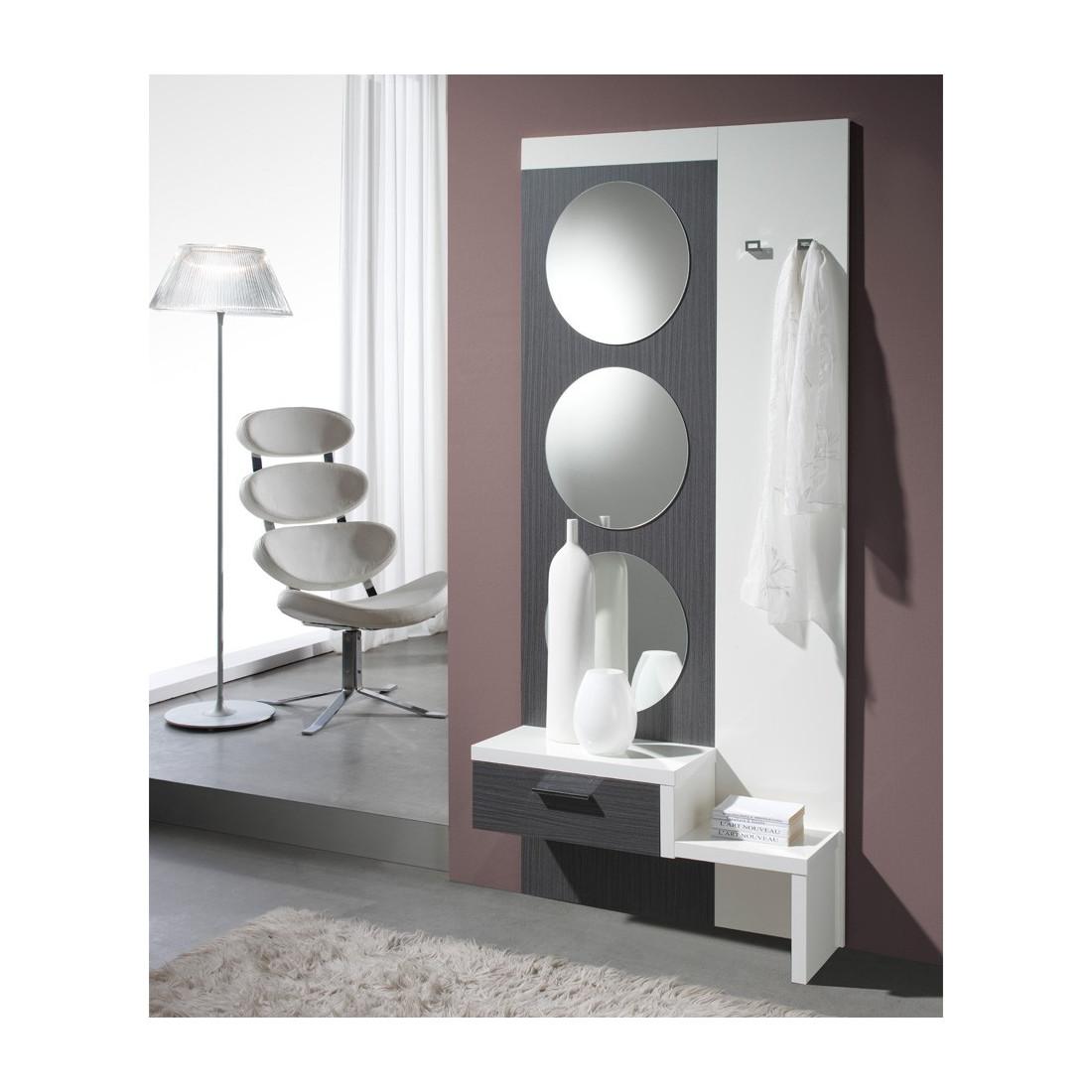 meuble d 39 entr e blanc cendre gomelle univers petits meubles. Black Bedroom Furniture Sets. Home Design Ideas