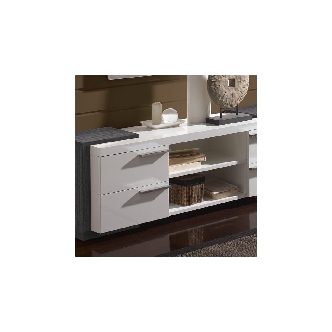 meuble d 39 entr e blanc cendre miroirs nave univers petits meubles. Black Bedroom Furniture Sets. Home Design Ideas