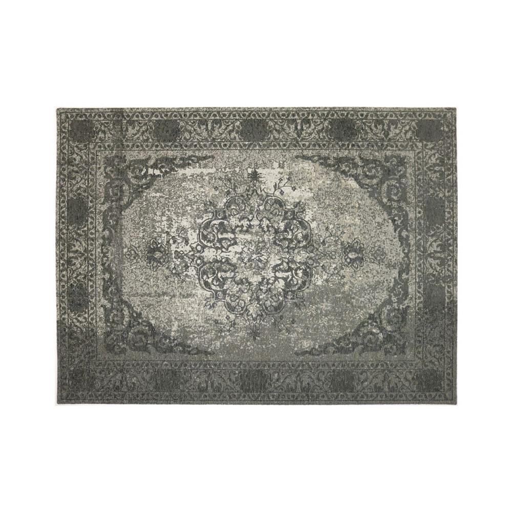 Tapis persan Tissu gris métallisé 170*230 - HUSUMER