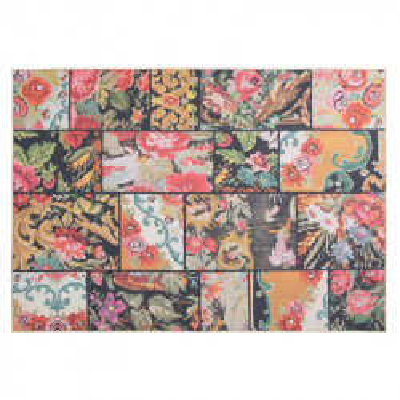 Tapis Tissu Patchwork floral 160*230 - PIETRAIN