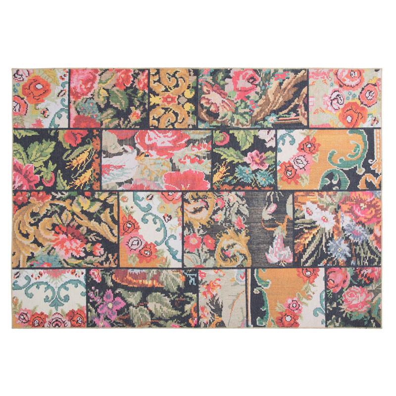 Tapis Tissu Patchwork floral 190*290 - PIETRAIN